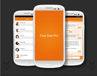 Chat Free Pro App Design