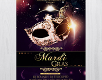 Mardi Gras Carnival - Free PSD Flyer Template