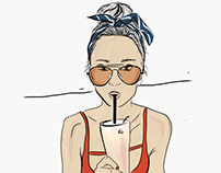 beach style - quick illustration