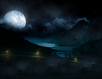 Matte Painting - The Night Rider
