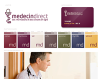 MedecinDirect Brand Identity and website