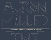 SubTone Poster June 2011 with handmade Altone font