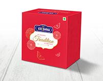 Pastry Box Design | Creative Cake Box for Krishna Sweet
