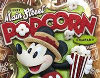 Disney Main Street Popcorn Company paper sculpture