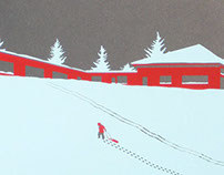 Silkscreen First Snow Art Print