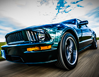 Ford Mustang Bullitt 2008 - Rigged Car shot