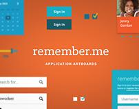 remember.me - Application Artboards (Free PSD)