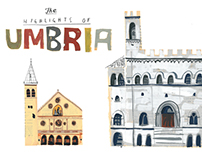 The highlights of Umbria