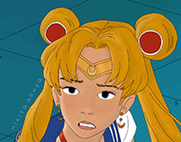 Sailor Moon Redraw Challenge by Nikita Abuya