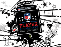 NFLPE Hollywood Boot Camp Backdrops Design