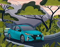 Series of Toyota prints