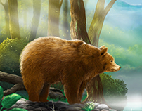 """Spirit of the Jungle """" Grizzly bear """""""