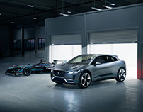 Jaguar I-Pace & I-Type location shoot