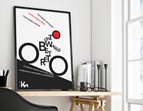 Typography poster - 'Wystawa własna'