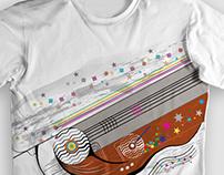 """Estampa de camiseta """"linemusic"""""""