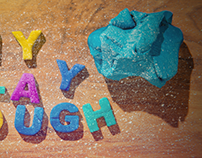 DIY play dough title card