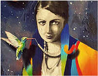 My artwork for the first Turkish woman painter H. Asaf