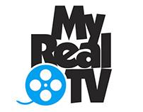 MY REAL TV logo design