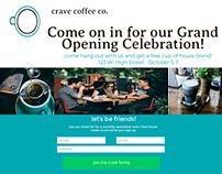 crave coffee logos, social media, icon set