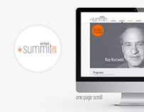 Entel Summit 2013 - Web Design
