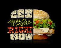 McDonald's Signature Classics Food Typography