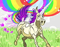 Unicorn Farting a Rainbow