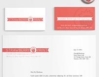 Strawberry Print Branding