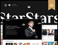 StarStars — Responsive Online Magazine (UI/UX)