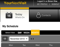 YourNextVisit Web Application UX Design