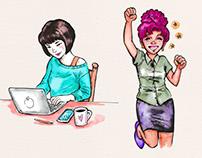 Working women illustrations