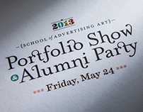 2013 school of advertising art Portfolio Show Invite