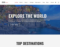 Travel industry related website template