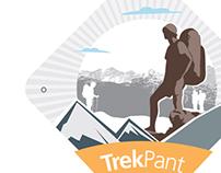 TrekPant - Logo drafts