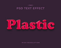 Plastic Text Effect
