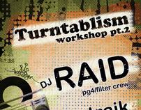 Flayer design for Turntablism Workshop [2011]