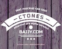 Ctones — text mockup css tool(pre alpha)