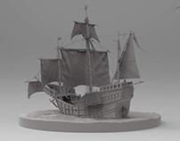 "Medieval Ship of Christopher Columbus ""Santa Maria"""