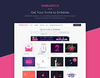 Get Your Invite to Dribbble