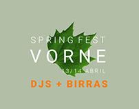 Vorne Spring Fest poster