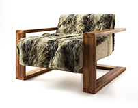 Fur Lounge Chair