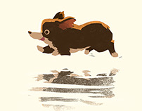 Running Corgi (gif)
