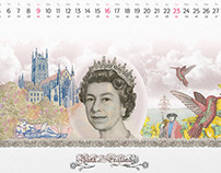 Sberbank. Calendar.