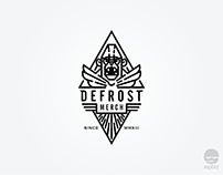 DefrostMerch logo design