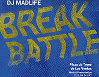 """""""Break Battle"""" poster - fictitious event by Red Bull"""