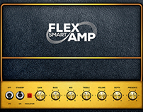 Flex Smart Amp Logo & iPad Interface Design