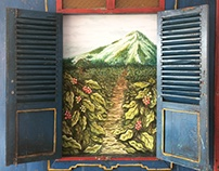 Coffee Plantation Mural for Red Spatula Coffee