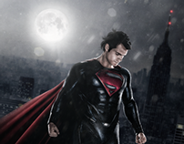 Man of Steel Photomanipulation Poster