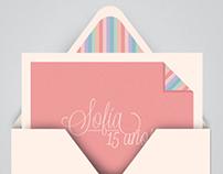 Tarjetas de 15 Sofía Balle