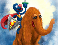 Super Grover iPad Illustration