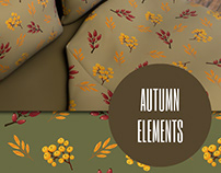 Autumn elements vector set